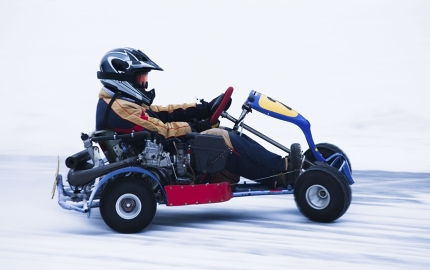 Visiting Lapland? Then skip Santa and go ice karting instead