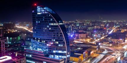 Blue Sky Hotel is one of the tallest buildings in Ulaanbaatar
