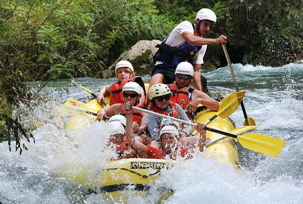 Rafting down the Cetina River near Split, Croatia