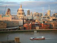 Tate Modern river bank view
