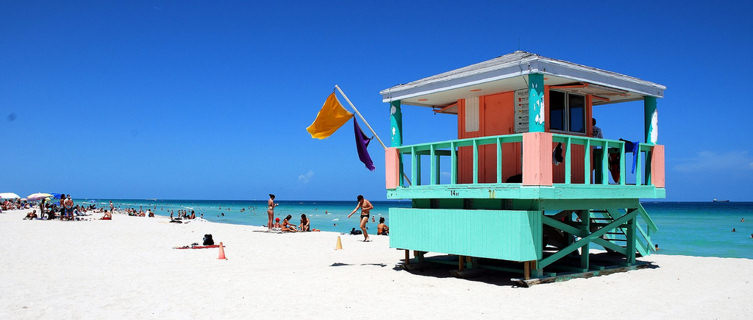 Miami beach lifeguard hut