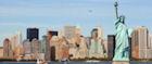 The iconic New York City skyline