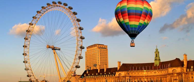 London Eye wheel on London's South Bank