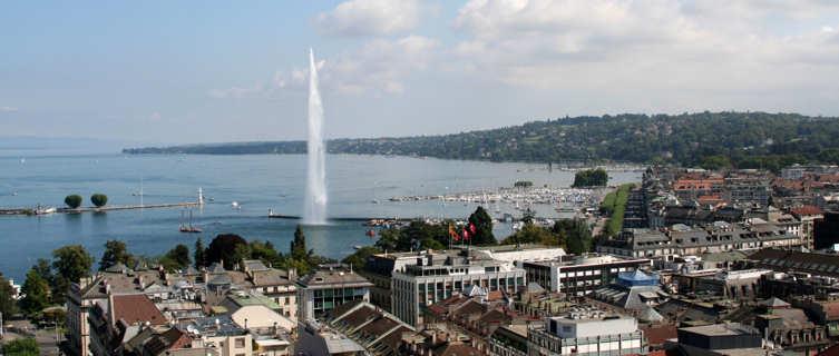 Jet d'eau on Lake Geneva