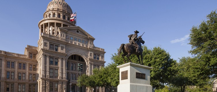 Austin's pink-hued Capitol building