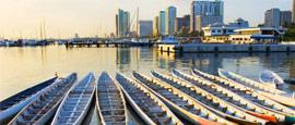 Dragonboats in Manila Bay