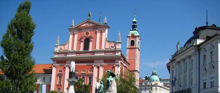 Ljubljana's old city centre