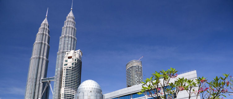 Kuala Lumpur city centre with the Petronos Towers