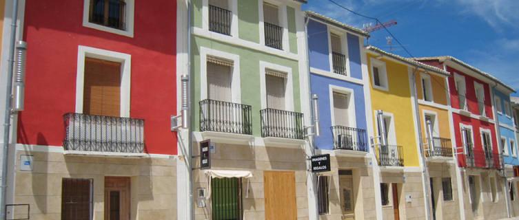 Colourful buildings in Alicante