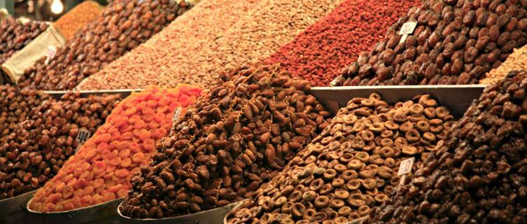 A market stall in Marrakech