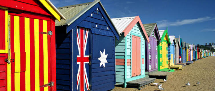 Beach huts on Bright Beach, Melbourne