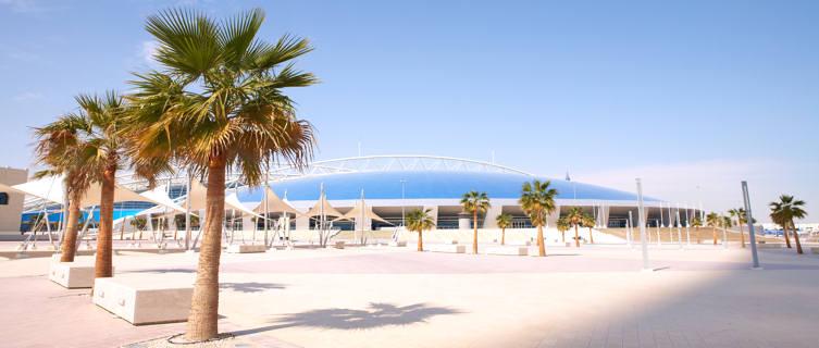 Outside Khalifa stadium in Doha