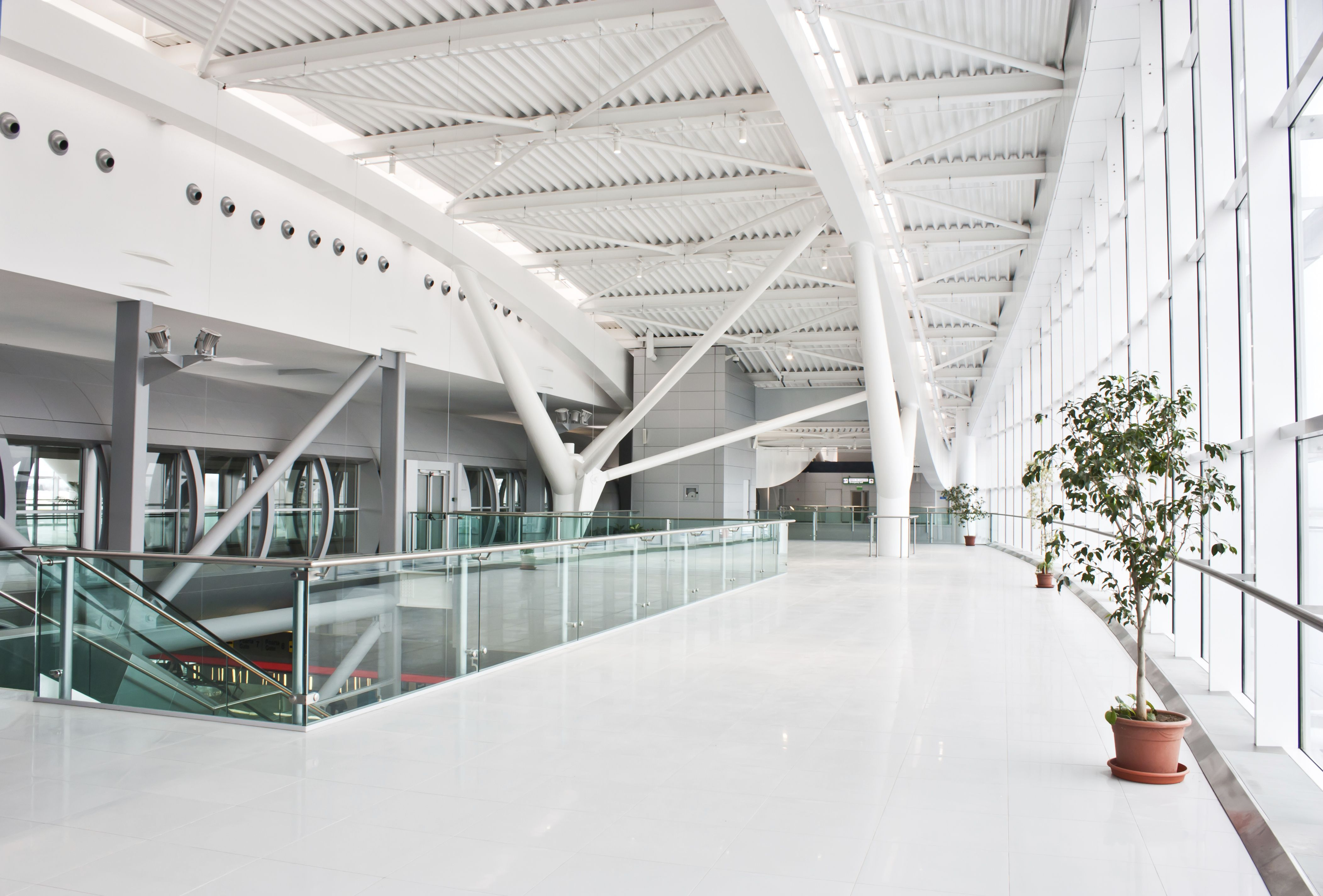 A gleaming concourse at Bucharest Airport