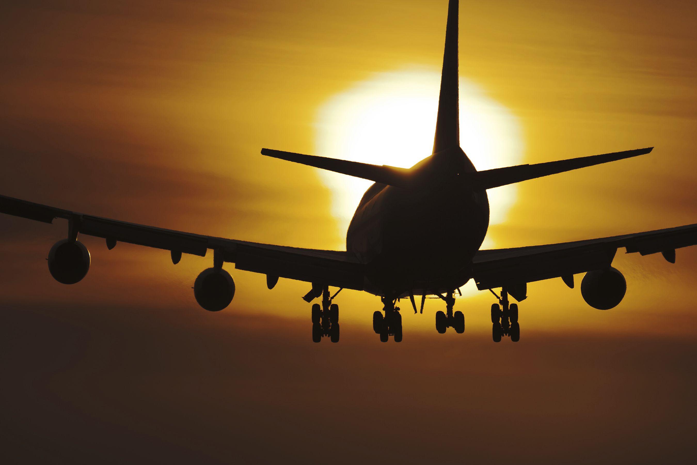 A plane touches town at London Gatwick