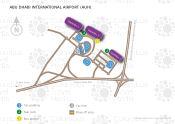Abu Dhabi International Airport map