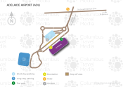 Adelaide Airport map