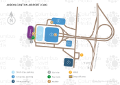 Akron-Canton Airport map