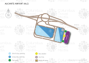 Alicante Flughafen map