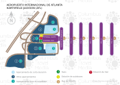 Aeropuerto Internacional de Atlanta - Hartsfield map