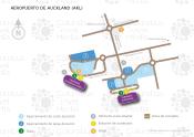 Aeropuerto Internacional de Auckland map