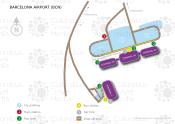 Barcelona Airport map