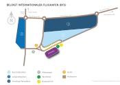 Belfast City George Best Flughafen map