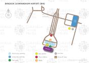 Bangkok Suvarnabhumi Airport map