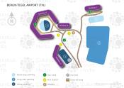 Berlin-Tegel Airport map