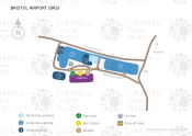 Bristol Airport map