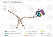 Aeropuerto de Bruselas map