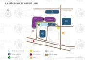 Hollywood Burbank Airport map