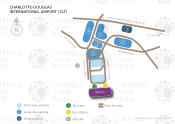 Charlotte-Douglas International Airport map