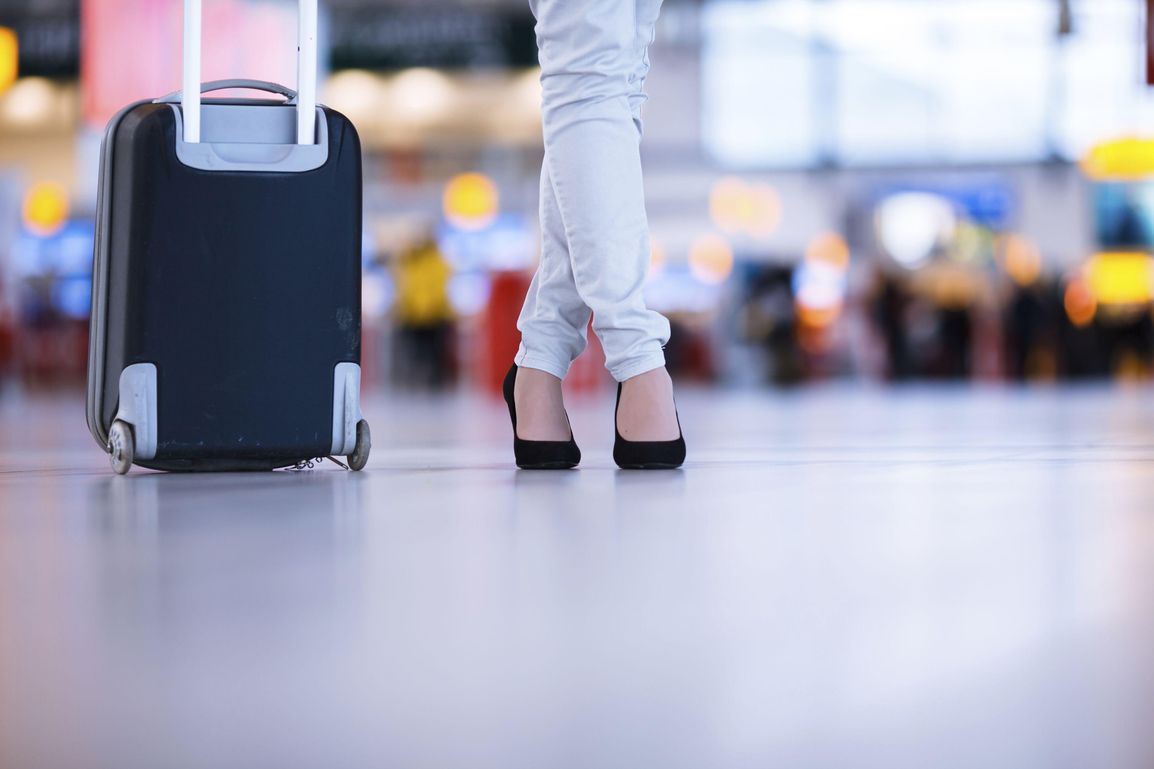 Checking in at Hanover Airport