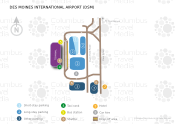 Des Moines International Airport map