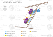 Detroit Metro Airport map