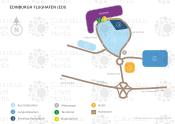 Edinburgh Flughafen map