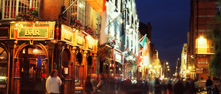 Find traditional Irish music in Dublin's Temple Bar district