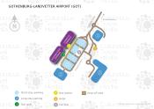Gothenburg-Landvetter Airport map