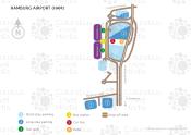 Hamburg Airport map
