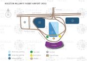Houston William P. Hobby Airport map