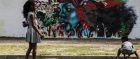 Kids playing in Cape Town's colourful Langa Quarter