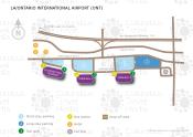 Ontario International Airport map
