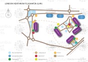 London Heathrow Flughafen map