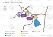 London Gatwick Airport map