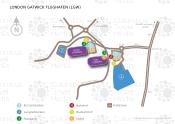 London Gatwick Flughafen map