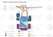 Memphis International Airport map
