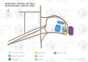 Milwaukee General Mitchell International Airport map