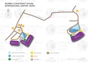 Mumbai Chhatrapati Shivaji Maharaj International Airport map