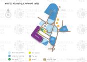 Nantes Atlantique Airport map