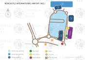 Newcastle International Airport map